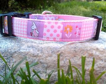 Bunny 1 Inch Width Dog Collar