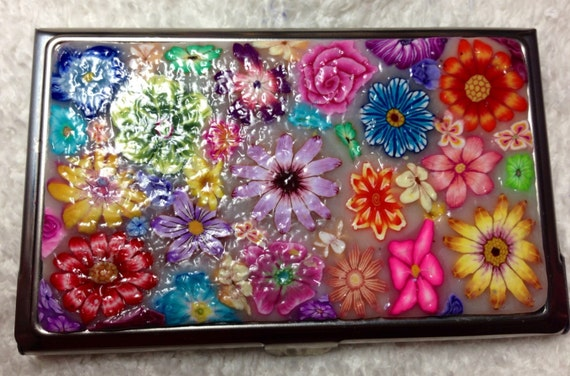 Polymer Clay Business Card Holder