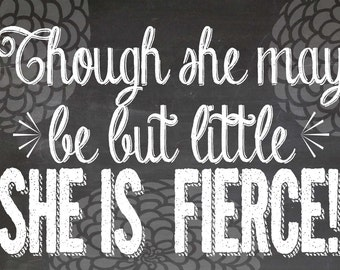 Small But Fierce Printable