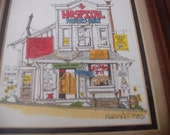 ON HOLD**Nurse Collector Hand Watercolor Print / Framed / 1985 Roger Mason Studios / Signed