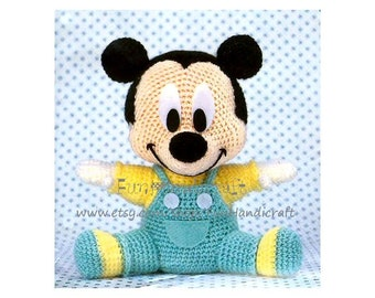 Disney Mickey Mouse Baby Amigurumi Pattern (E-book in PDF format) Instant Download