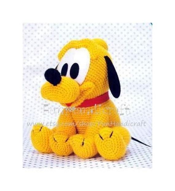 Amigurumi Disney Tutorial : Disney Pluto Baby Amigurumi Pattern E-book in PDF by ...
