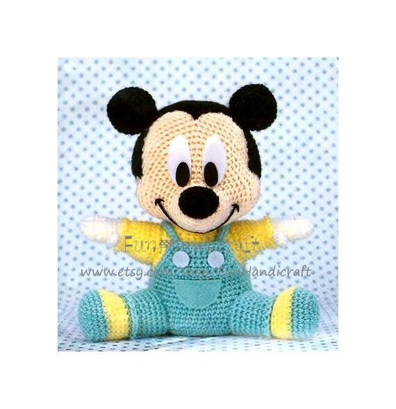 Disney Mickey Mouse Baby Amigurumi Pattern E-book by ...