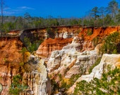 """Fine Art Photography, Providence Canyon, Army Veteran, 16x20 color 1.5"""" Canvas Gallery Wrap,"""