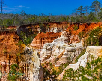 "Fine Art Photography, Providence Canyon, Army Veteran, 16x20 color 1.5"" Canvas Gallery Wrap,"