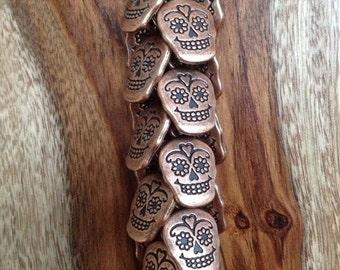 "the ""rose sugar skull"" keychain"