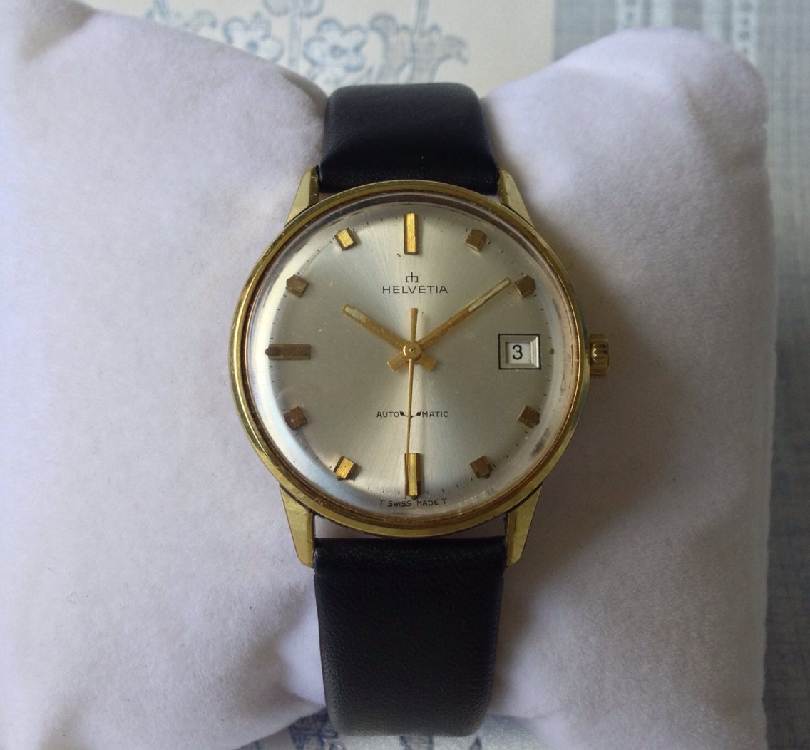The Deco Stylist Tagged 1960 S Fashion The Deco Haus: Lovely 1960s Helvetia 25 Jewel Mens Vintage Swiss Automatic