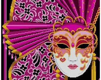 Mask of Mardi Gras - Magical Magenta