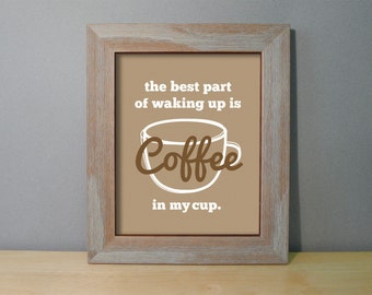 Coffee Sign - Coffee Wall Art - Coffee Decor - Kitchen Prints - Coffee Prints - Kitchen Wall Art - Coffee Typography Print - Coffee Poster