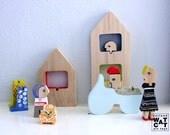HURBANYA city wooden set toy
