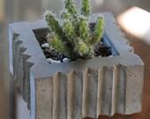 Cement Planter, Art Deco #1