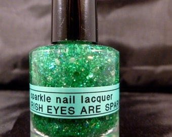 When Irish Eyes Are Sparkling---handmade nail polish