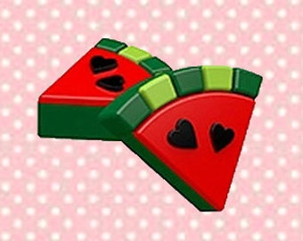 Watermelon Oreo Cookie Mold-Make your own chocolate covered Oreos with the 4 Cavity Watermelon Cookie Mold.