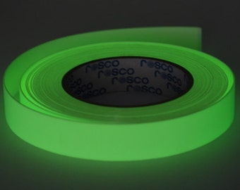 """30 ft. roll of 1/2"""" Glow in the Dark Gaff Tape for your Hula Hoop"""