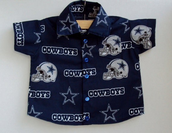 Boy 39 s button up dallas cowboys shirt larger sizes for Custom made shirts dallas
