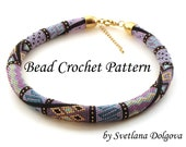 "Pattern for bead crochet necklace ""Amira"""