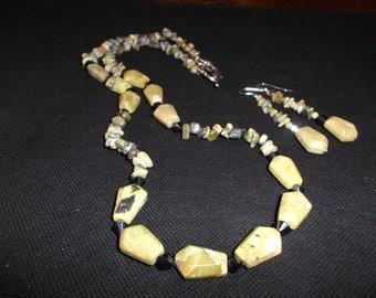 Yellow Turquoise Necklace Set