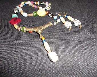 Multi Gemstone Necklace Set