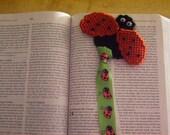 Ladybug Bookmark, Plastic Canvas, Animal Book Mark, Bookmark Favors, Needlecraft Item, Ladybug Birthday, Unique Bookmarks, Gift for Kids