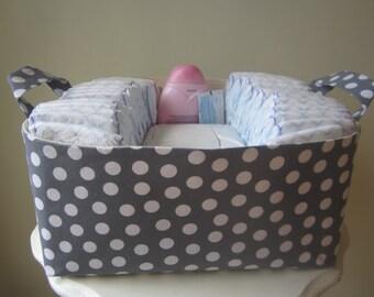 Large Fabric Bin - Diaper Caddy - Ready to ship