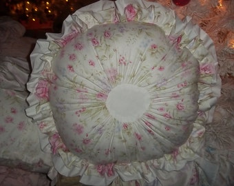 ruffled round pillow