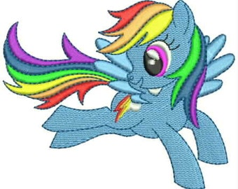 Rainbow Dash. Design for embroidery machine. My Little Pony. Free cutie mark. 4'' and 5''. Friendship is magic.