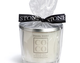 COCO by Daniel Stone 9 oz Coconut Wax Body Candle, White Tea Ginger Root