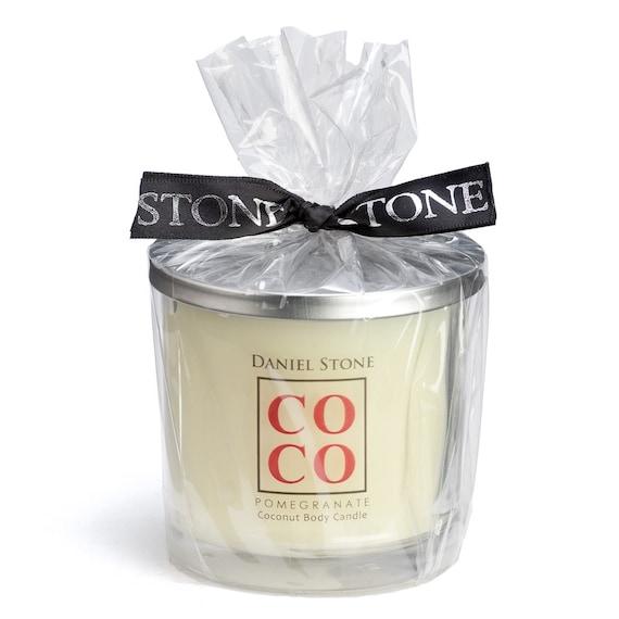 COCO by Daniel Stone 9 oz Coconut Wax Body Candle, Pomegranate