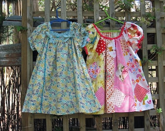 Girls dress sewing pattern Sweet Pea baby, toddler & girls dress sewing pattern, children's sewing pattern sizes 1 to 10 years