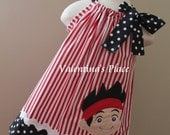 Super Adorable Jake and the Neverland Pirates pillowcase dress