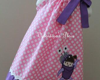 Adorable Monster inc Boo inspired pillowcase dress