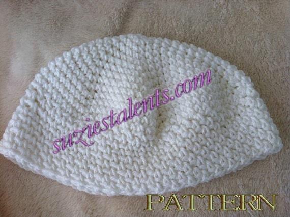 Free Crochet Pattern For Skull Hat : PT040 Crochet Skull Cap Crochet Kufi Hat Mens Kufi