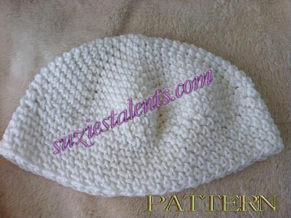 Free Crochet Patterns For Skull Hats : PT040 Crochet Skull Cap Crochet Kufi Hat Mens Kufi