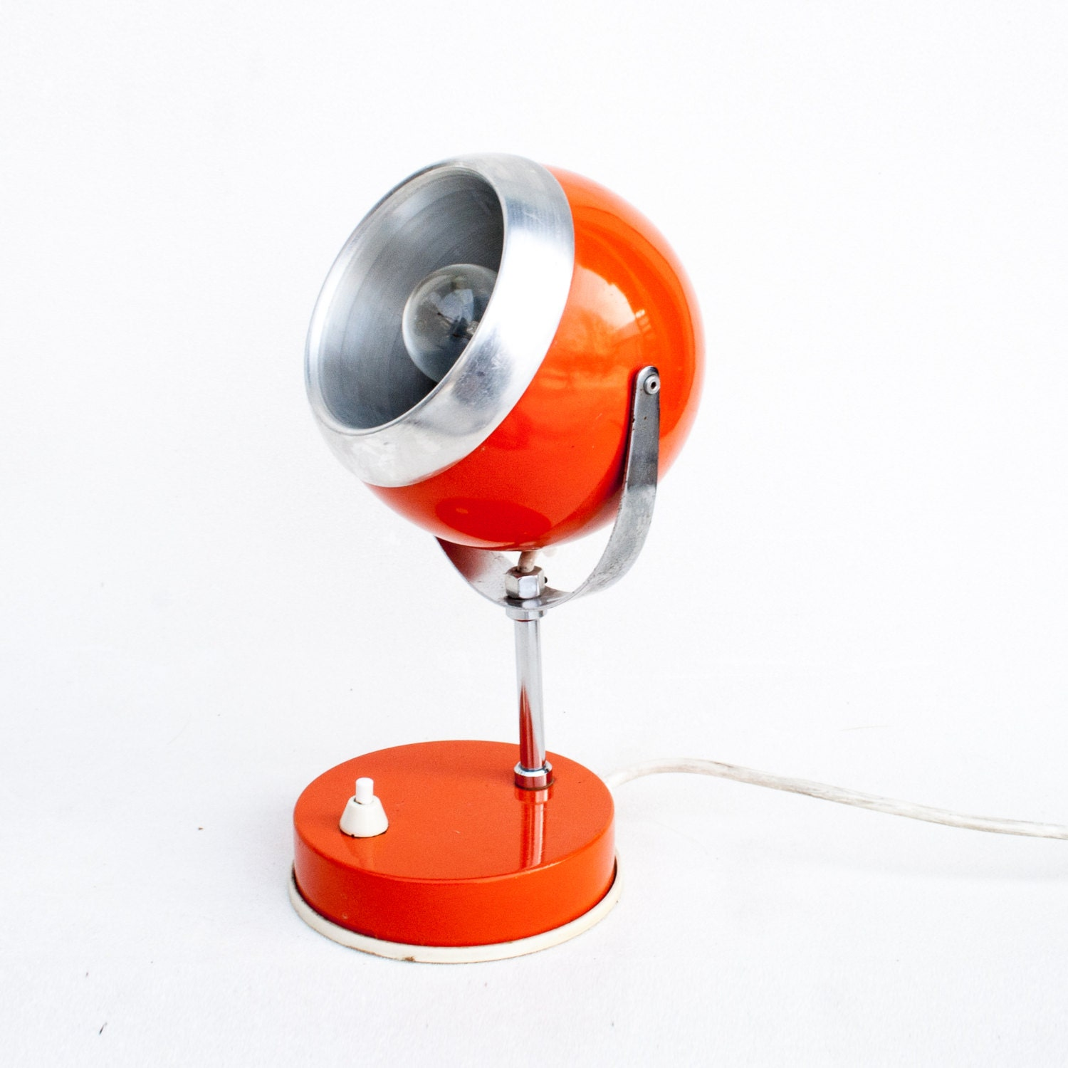 Atomic Orange Desk Lamp 70 S Vintage Table Lamp