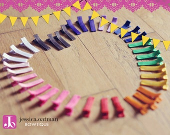 100 - YOU PICK - Partially Lined Alligator Clips