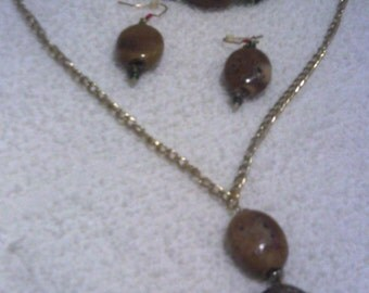 Agate Stone Jewelry Set
