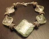 Green Iodalite Gemstone Bracelet