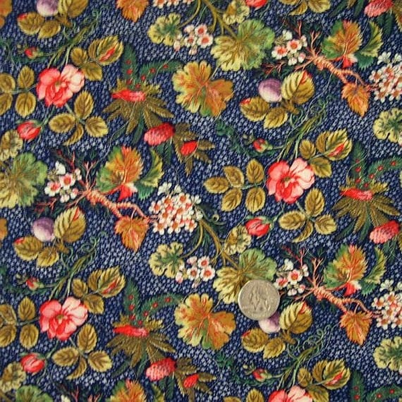 Double Faced Pre Quilted Cotton Fabric Dark Blue By