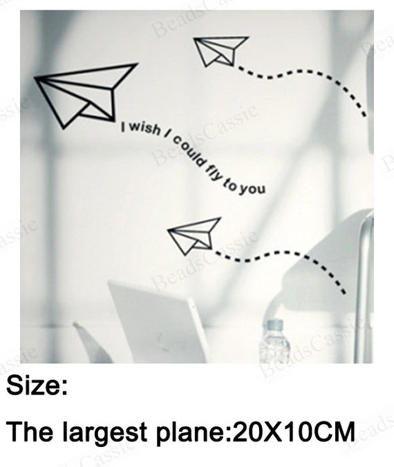 QT027 FREE SHIPPING the paper plane wall quote by BeadsCassie