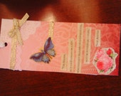 Jane Austen Pink Bookmark