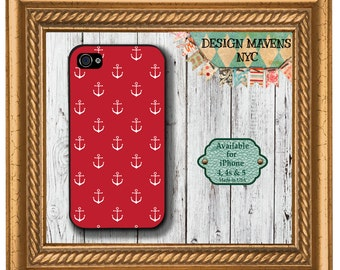 Mini Anchors iPhone Case, Nautical iPhone Case, Gift for Her iPhone Case, iPhone 4, 4s, iPhone 5, 5s, 5c, iPhone 6, 6s, 6 Plus, SE