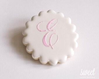 Monogram Cookie Favors // One Dozen Sugar Cookies