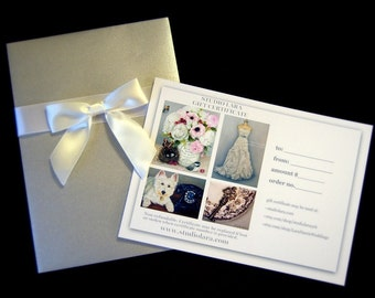 GIFT CERTIFICATE 100 (USD) Custom Wedding Dress Illustration Painting in Oil by Lara Harris Shoes Bouquet Cake