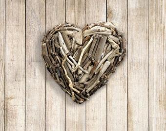 Driftwood Mini Hanging Heart
