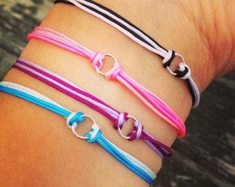 Double wrap karma bracelets