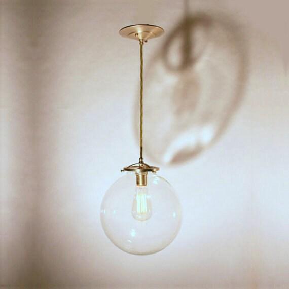 Modern Globe Pendant Lighting : Modern vintage pendant lighting clear globe by