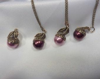 Bridesmaids Necklaces - wedding necklace - Bridesmaids jewelry -Fall wedding jewelry - Bridemaids Gift - Set of 4 Necklaces