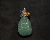 Green Aventurine Carved Quan Yin / Kwan Yin, Amethyst, Iolite, Apatite, Peridot, Citrine, Carnelian and Garnet pendant
