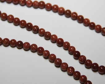 50 PCs. Gold Sandstone / 4mm / Gemstone Beads / brown -gold  HE028-4