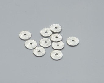 10 PCs metal disk / spacer 8mm color: silver MP083